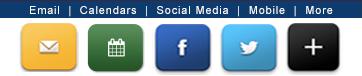 Email, Calendars, Social Media