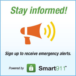Sign up to receive emergency alerts