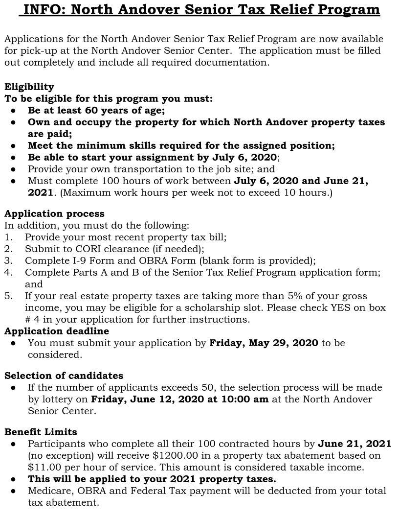 Sr. TWO Info Sheet