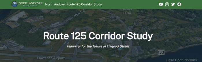 "Website header reading ""Route 125 Corridor Study"""